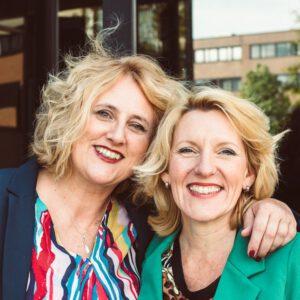 Helga de Boer en Trea ten Kate van Platform 9