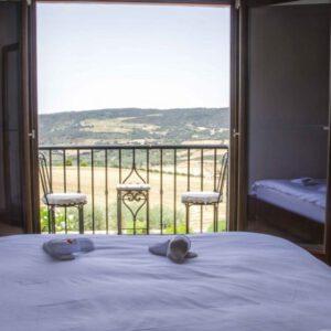 Uitzicht van de hotelkamers
